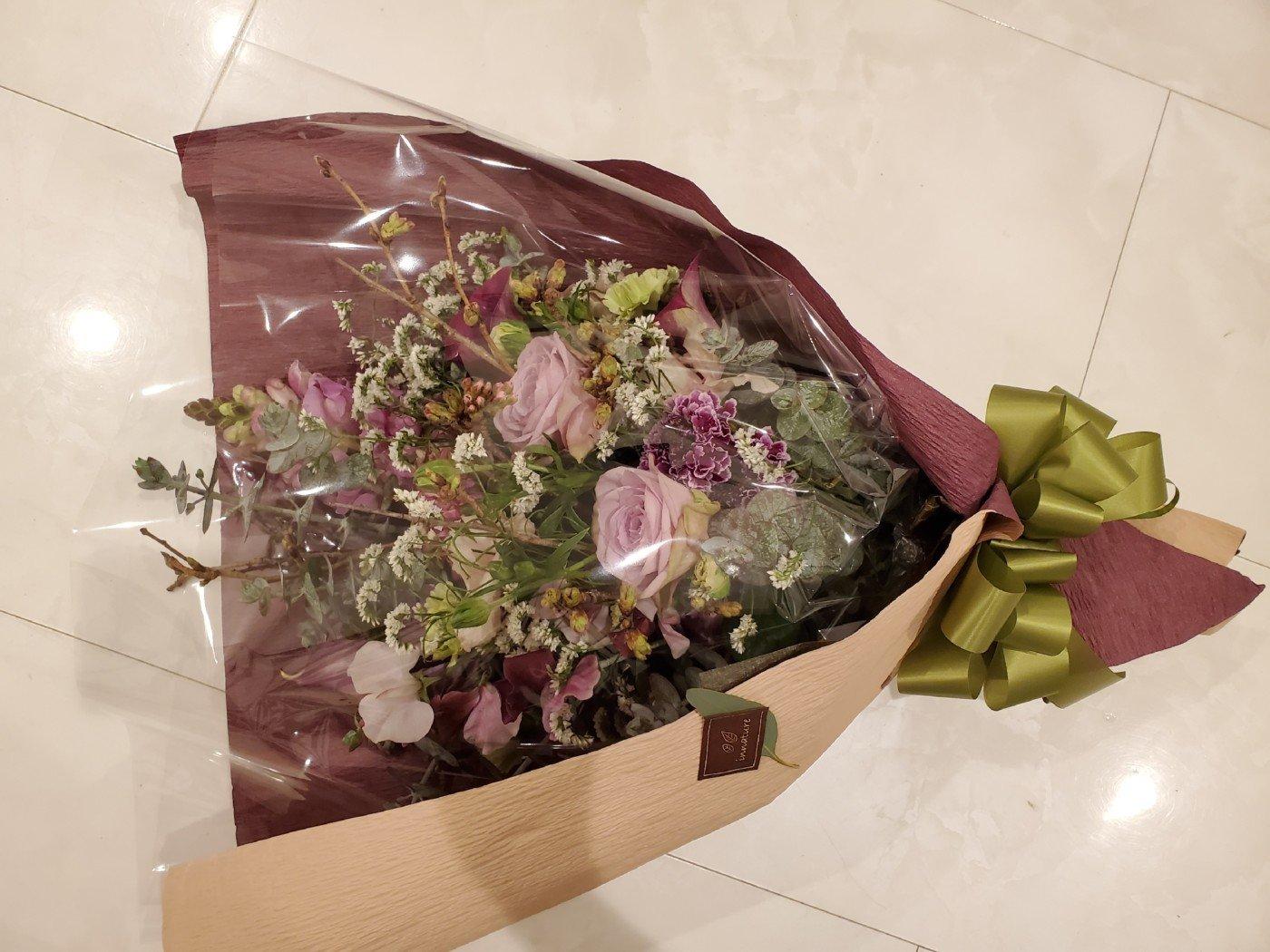 卒業式で先生へ贈る花束