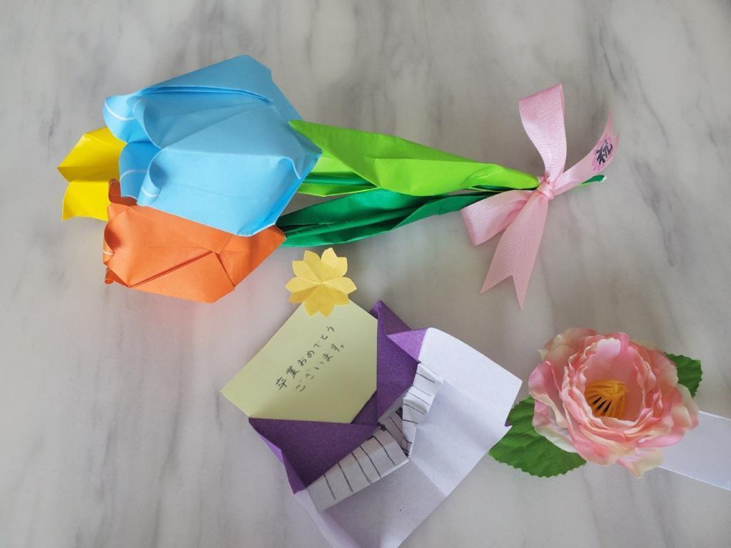 卒業式で貰った花