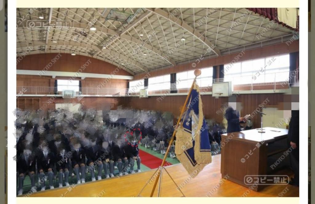 中学校入学式写真