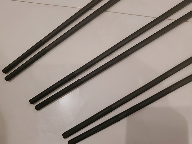 セリア黒菜箸