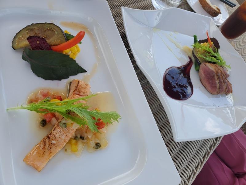 お魚、お肉のランチ