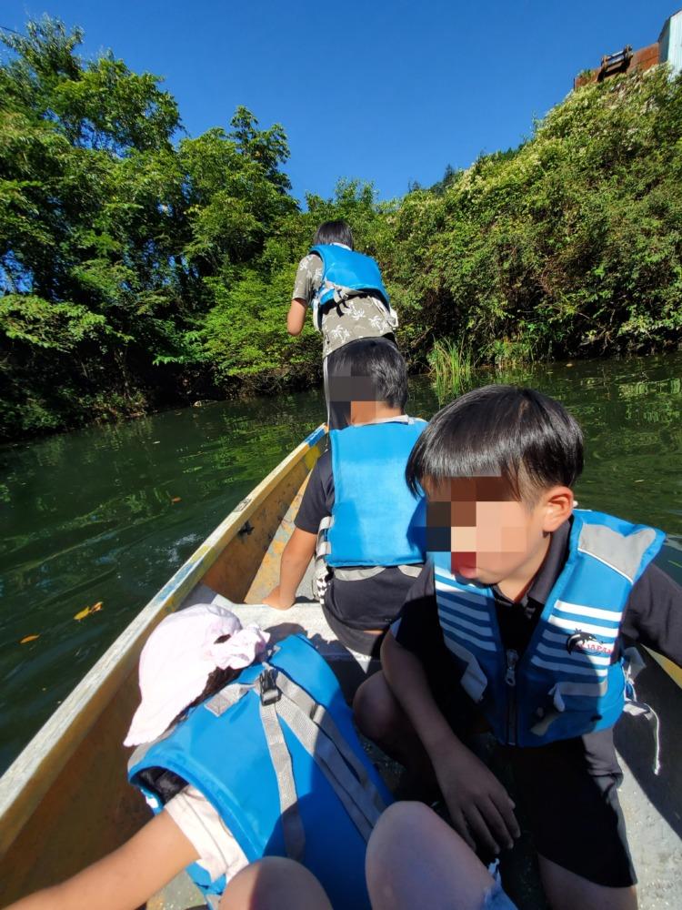 湯来釣り堀でカヌー体験