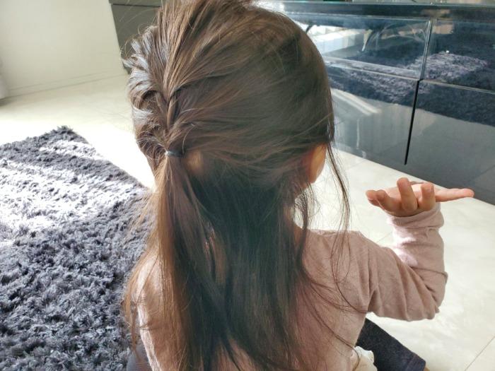 ルピスのパールピンを使用する前の髪型