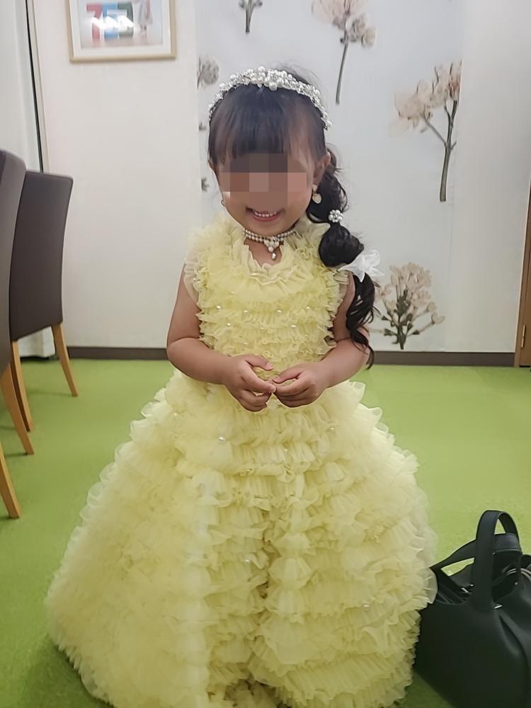 女の子3歳七五三前撮り写真髪型とドレス