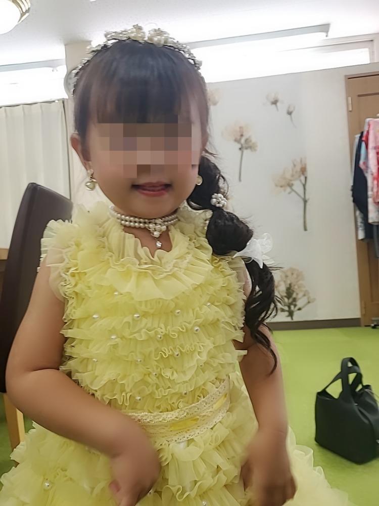 女の子3歳七五三前撮り写真髪型