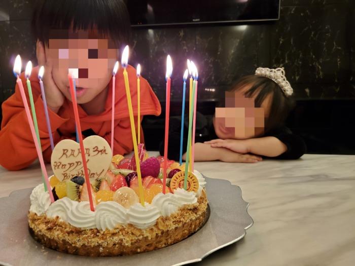 3歳お誕生日ケーキ