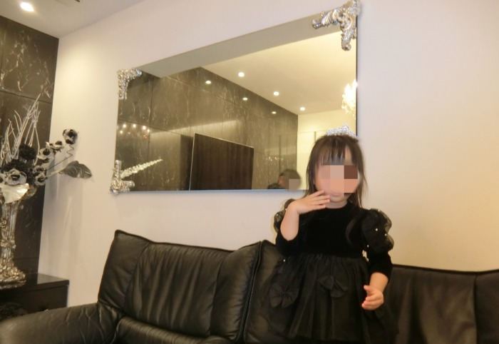 娘の3歳お誕生日ドレス