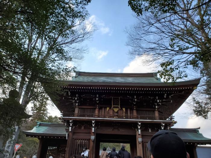 初詣へ神社に行った写真
