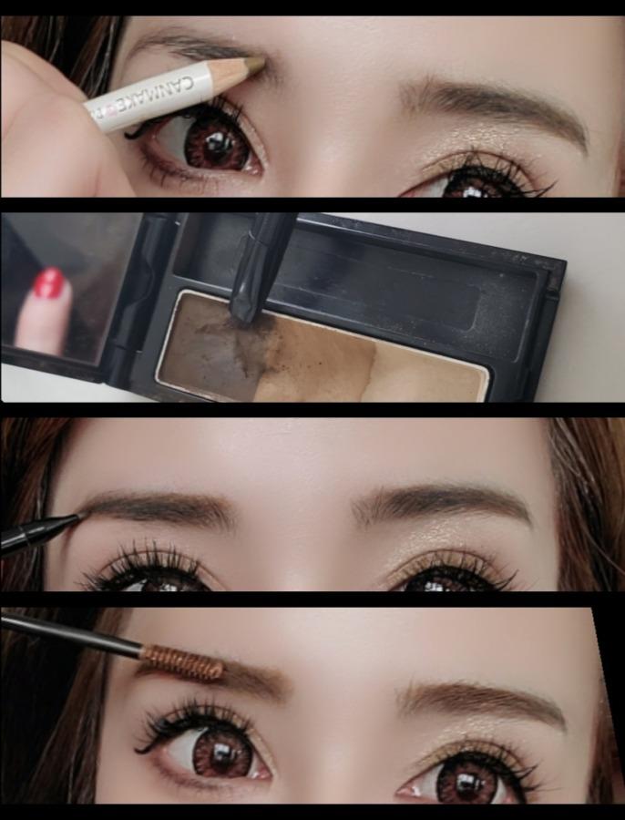 眉毛の書き方レポ