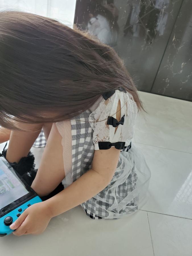 韓国子供服ビー着用写真