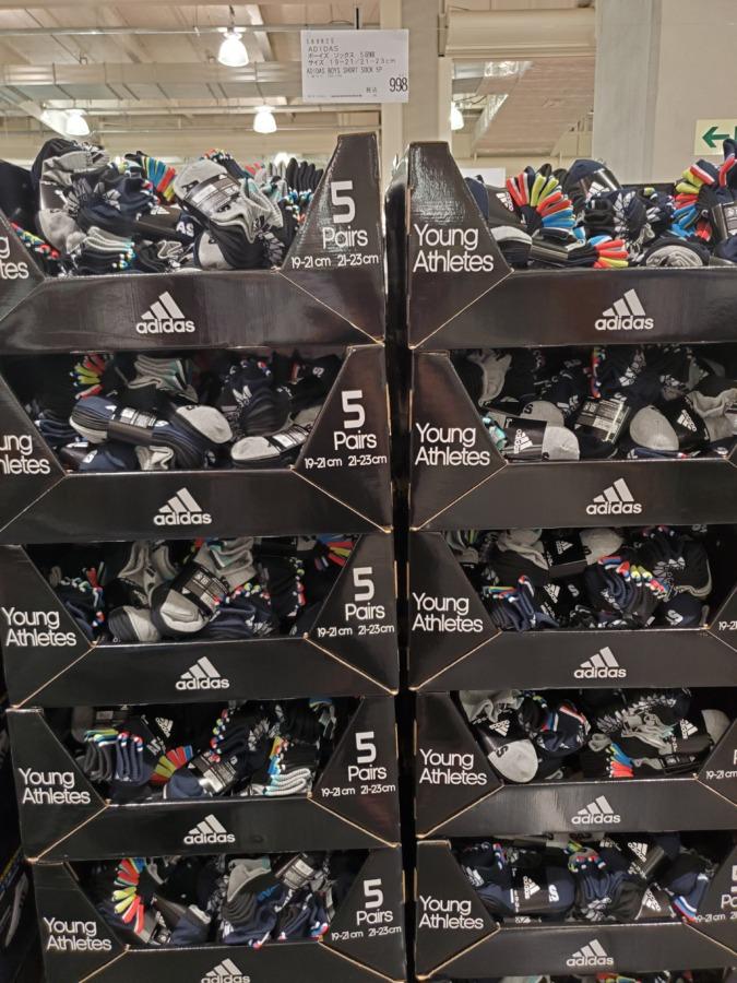 コストコのアディダス靴下値段